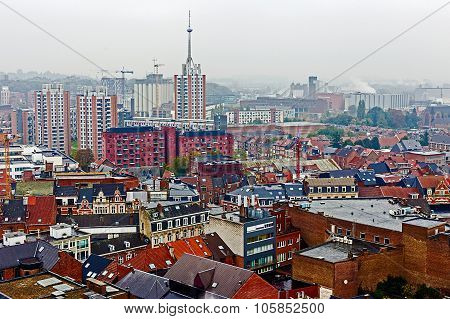 Aerial View Of Leuven, Belgium, From University Tower-1