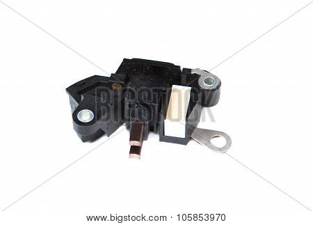 the car automatic voltage regulator isolated on white background