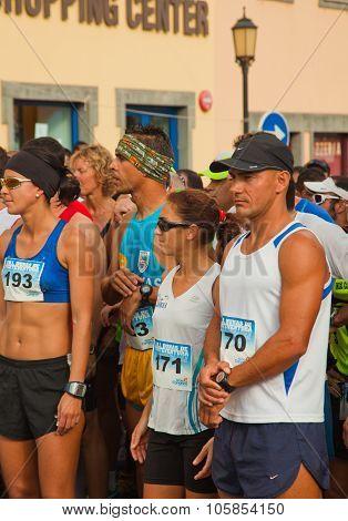 Corralejo - November 03: Runners Assemble Befre  The Race At Fourth International Fuerteventura Half