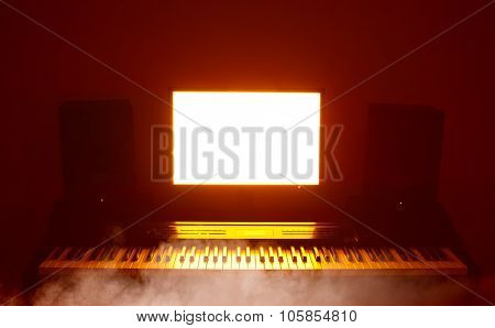 abstract digital audio workstation (daw) studio