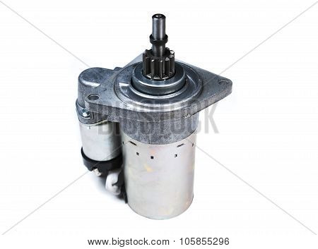 the car starter isolated on white background