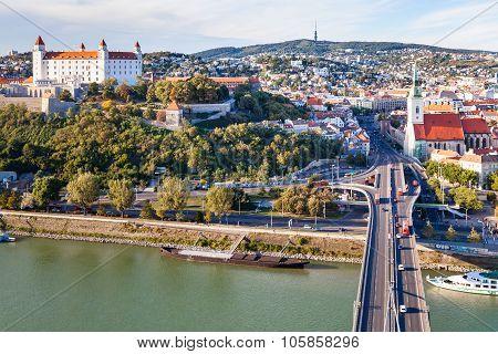 Danube Waterfront, Snp Bridge, Bratislava City