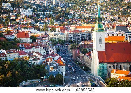 View Of Staromestska Street In Bratislava City