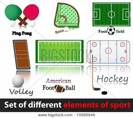 Set of elements of sport.