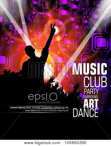 Discoteque poster background