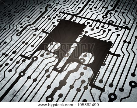 Political concept: circuit board with Election