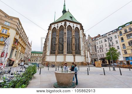 James Square (jakubske Namesti) In Brno, Czech