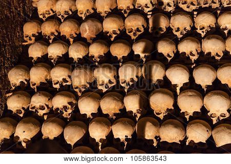 Human Remains In Ossuary Of St James Church, Brno