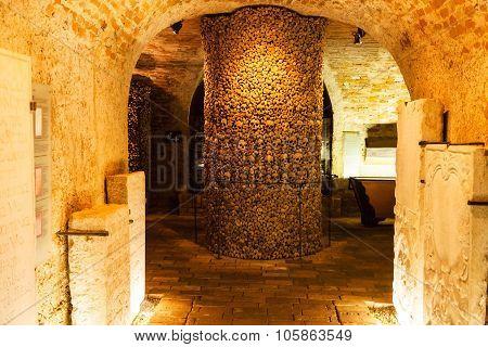 Interior Of The Ossuary Of St James Church, Brno