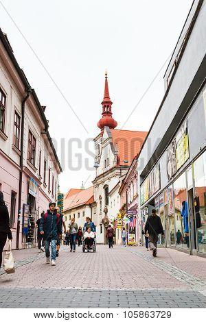 People On Josefska Street In Brno City
