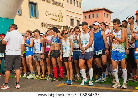 Corralejo - November 03: Runners Assemble Before  The Race At Fourth International Fuerteventura Hal
