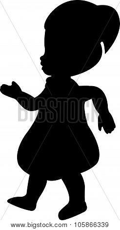 a doll silhouette