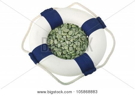 Green coffee seeds