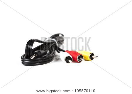 rca cable connectors isolated on a white background
