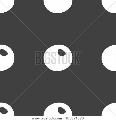 Number Zero Icon Sign. Seamless Pattern On A Gray Background.