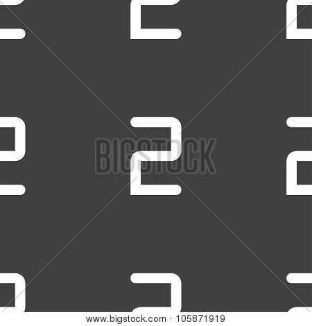 Second Place Award Sign. Winner Symbol. Step Two. Seamless Pattern On A Gray
