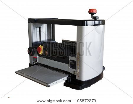 Woodworker milling machine tool isplated on white background