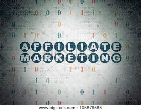 Finance concept: Affiliate Marketing on Digital Paper background