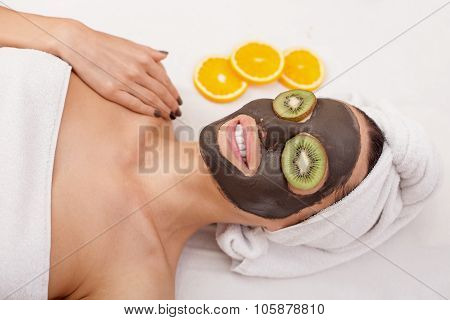 Attractive girl is having skin care treatment