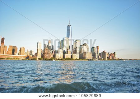 Lower NYC view across Hudson River
