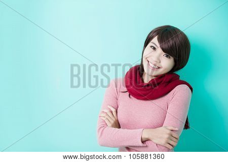 Young Woman Wearing Winter Clothing