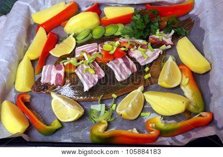 Raw  Fish Flounder