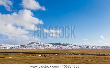 Beautiful Landscape of snowy mounta