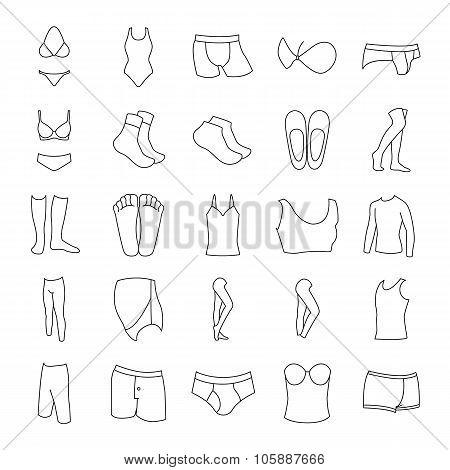 Inner wear and socks