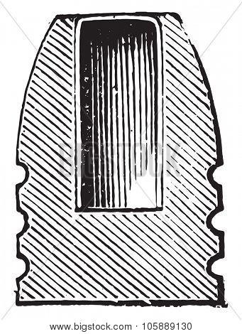 Express bullet, vintage engraved illustration. Industrial encyclopedia E.-O. Lami - 1875.