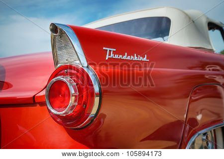 Red 1956 Ford Thunderbird Convertible Classic Car