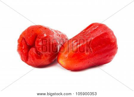 Roes apple fruit isolated on white background