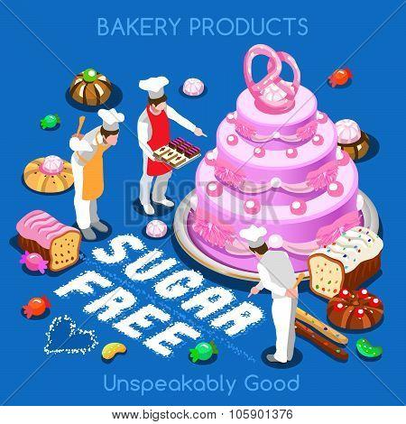 Pastry  Food Isometric