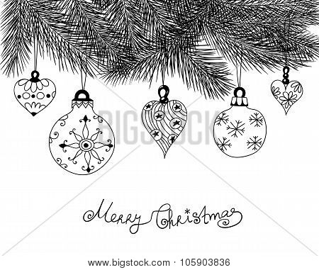 Hand Drawn Christmas Baubles