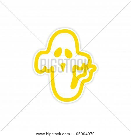 sticker ghost color on a white background