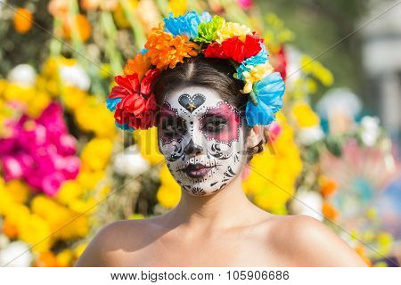 Woman With Sugar Skull