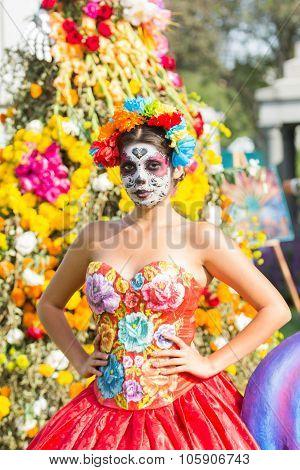 Woman With Sugar Skull