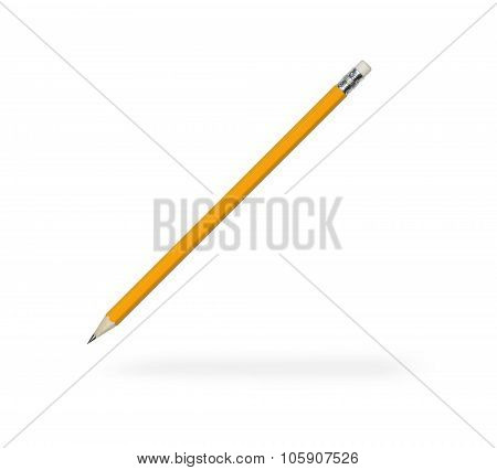 Pencil With Sharpened Rod And Eraser At The End