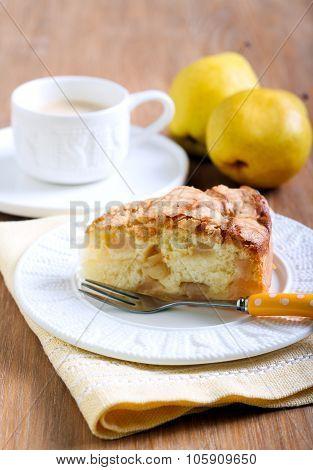Slice Of Pear Sponge Cake
