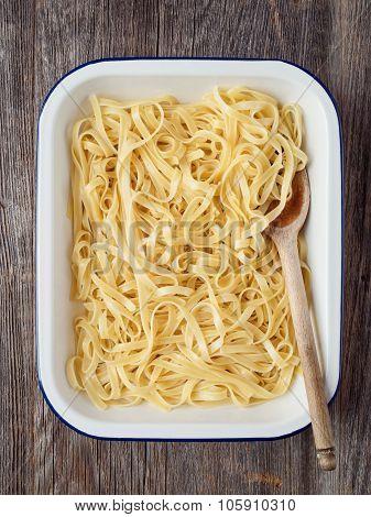 Rustic Cooked Italian Fettuccine Pasta