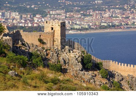 Castle Ichkale In Alanya At Summer