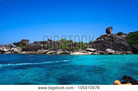 Beautiful Similan rock