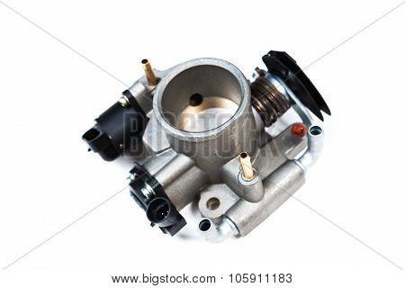 the automotive throttle isolated on white background