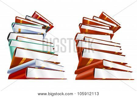 Book 3d vector illustration isolated on white