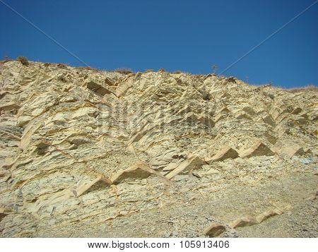 High rocky steep coast of the Black Sea