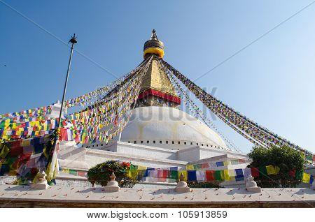 Stupa Swayambhunath In The Kathmandu, Nepal