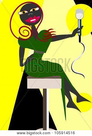 Black singer