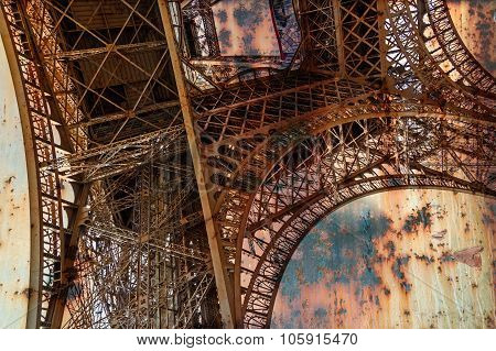 Rusty Background  With Eiffel Tower 8