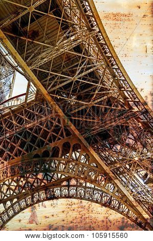 Rusty Background  With Eiffel Tower 7