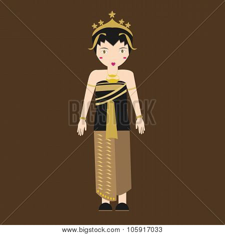 Indonesia javanese Traditional Costume java girls in clothes south east asia tradition