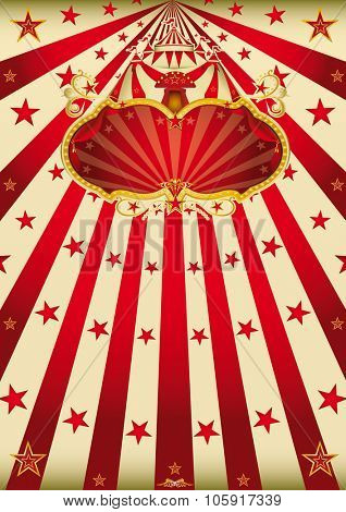 magic circus paradise. A retro style carnival poster with a sign for you